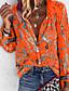 cheap Blouses & Shirts-Women's Daily Plus Size Loose Shirt - Geometric V Neck Purple