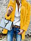 cheap Furs & Leathers-Women's Faux Fur Coat Short Solid Colored Daily Plus Size White Black Red Yellow S M L XL / Going out
