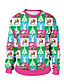cheap Christmas Sweater-Women's Pullover Sweatshirt Print Color Block Rainbow Daily Weekend Other Prints Active Christmas Hoodies Sweatshirts  Loose Rainbow