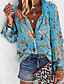 cheap Blouses & Shirts-Women's Daily Loose Shirt - Tribal Shirt Collar Purple