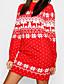 cheap HALLOWEEN 2020-Women's Sweater Jumper Dress Short Mini Dress - Long Sleeve Print Print Fall Winter Casual Christmas 2020 Black Blue Red Green Light Blue S M L XL