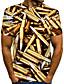cheap Men's 3D-Men's T shirt Shirt Graphic Machine Plus Size Print Short Sleeve Daily Tops Basic Round Neck Gold / Summer