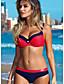 cheap Bikini Sets-Women's Yellow Blushing Pink Orange Tankini Swimwear Swimsuit - Striped S M L Yellow