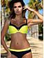 cheap Tankinis-Women's Tankini Swimwear Swimsuit - Striped S M L Blue Yellow Blushing Pink Orange Light Green