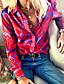 cheap Blouses & Shirts-Women's Abstract Shirt Daily Shirt Collar Fuchsia