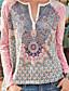 cheap Blouses & Shirts-Women's Daily Blouse - Color Block Blushing Pink