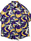 cheap Men's Tops-Men's Daily Basic / Tropical EU / US Size Shirt - Fruit Print Black