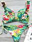 cheap SWIMSUIT-Women's Yellow Tankini Swimwear - Floral S M L Yellow