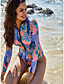 cheap Sexy Swimwear-Women's High-Waisted One-piece Swimsuit Slim Tummy Control High Waist Geometric Swimwear Bathing Suits Purple / Padless