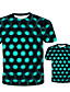 cheap Family Matching Outfits-New Year Tee Family Look Geometric Print Blue Purple Yellow Short Sleeve Matching Outfits