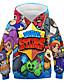 cheap Boys'Tees & Blouses-Kids Boys' Hoodie & Sweatshirt Short Sleeve Anime Color Block Geometric 3D Print Rainbow Children Tops Basic Streetwear