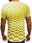 cheap Men's Tops-Men's Plus Size Graphic Print T-shirt Street chic Weekend Round Neck Blue / Gold / Summer / Short Sleeve