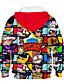 cheap Boys' Hoodies & Sweatshirts-Kids Boys' Hoodie & Sweatshirt Long Sleeve Anime Cartoon 3D Print Color Block Geometric Print Blue Purple Yellow Children Tops Basic Streetwear 3-12 Years