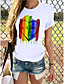 cheap Tees & T Shirts-Women's T shirt Butterfly Heart Graphic Prints Print Round Neck Tops 100% Cotton Basic Basic Top Butterfly White Black
