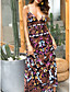 cheap Boho Dresses-Women's Strap Dress Maxi long Dress - Sleeveless Floral Summer Elegant 2020 Brown M L XL XXL