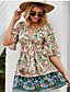 cheap Summer Dresses & Boho-2020 SUMMER Boho Floral Print V-Neck MINI Dresses