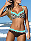 cheap Bikini Sets-Women High Waisted Push up Floral Printed  2 Piece Bathing Suits