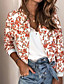 cheap Jackets-Women's Jacket Regular Geometric Daily Basic Print White Black Red Army Green S M L XL