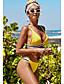 cheap Tankinis-Women's Tankini Swimwear Swimsuit - Color Block S M L Yellow