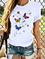 cheap Tees & T Shirts-Women's T-shirt Graphic Print Round Neck Tops 100% Cotton Basic Basic Top Dog White Black