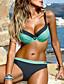 cheap Sexy Swimwear-Women's Bikini Swimsuit Push Up Striped Swimwear Bathing Suits Blue Yellow Orange / Padded Bras
