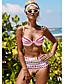 cheap Tankinis-Women's Strap Tankini Swimwear Swimsuit - Striped S M L Rainbow