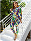 cheap Plus Size Swimwear-Women's One-piece Rash Guard Swimsuit Color Block Swimwear Bathing Suits Green