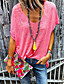 cheap Tees & T Shirts-Women's Solid Colored Loose T-shirt Daily Casual V Neck White / Black / Blue / Red / Yellow / Gray
