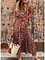 cheap Boho Dresses-Women's A Line Dress Maxi long Dress Red Orange Gray Sleeveless Print Geometic Print Summer V Neck Hot Casual Boho 2021 S M L XL XXL / Holiday