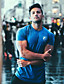 cheap Running & Jogging Clothing-Men's Short Sleeve Workout Tops Running Shirt Tee Tshirt Top Athleisure Summer Quick Dry Breathable Soft Fitness Gym Workout Performance Running Training Sportswear White Black Blue Army Green Navy