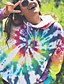 cheap Hoodies & Sweatshirts-Women's Pullover Hoodie Sweatshirt Tie Dye Basic Hoodies Sweatshirts  Loose Rainbow
