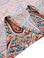 cheap Boho Dresses-Women's Swing Dress Maxi long Dress Brown Short Sleeve Print Paisley Split Print Summer V Neck Chic & Modern Hot Casual Holiday 2021 S M L XL XXL 3XL