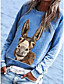 cheap Hoodies & Sweatshirts-Women's Pullover Sweatshirt Animal Daily Basic Hoodies Sweatshirts  Cotton Loose Oversized Blue