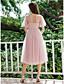 cheap Casual Dresses-Women's A-Line Dress Maxi long Dress - Short Sleeve Polka Dot Ruffle Spring Summer Casual Elegant Holiday Going out Loose 2020 Blushing Pink S M L XL XXL