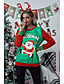 cheap Christmas Sweater-Women's Pullover Sweatshirt Graphic Other Prints Christmas Hoodies Sweatshirts  Loose Black Red Green