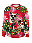 cheap Christmas Sweater-Women's Pullover Sweatshirt Print Color Block Rainbow Daily Active Christmas Hoodies Sweatshirts  Loose Rainbow