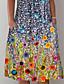 cheap Valentine's Gifts-Women's Shift Dress Midi Dress Blue Short Sleeve Polka Dot Print Pocket Print Summer Round Neck Hot Casual vacation dresses 2021 S M L XL XXL 3XL 4XL 5XL