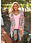 cheap Cardigans-Women's Basic Knitted Geometric Argyle Cardigan Cotton Long Sleeve Sweater Cardigans Open Front Fall Winter Blushing Pink