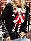 cheap Christmas Sweater-Women's Christmas Knitted Solid Color Pullover Acrylic Fibers Long Sleeve Sweater Cardigans Crew Neck Fall Winter Black
