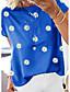 cheap Tees & T Shirts-Women's Going out T-shirt Floral Flower Daisy Print Round Neck Tops Cotton Basic Basic Top Blue Purple Khaki