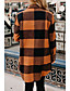 cheap Coats & Trench Coats-Women's Fall & Winter Hidden Stand Collar Coat Long Color Block Daily Basic Patchwork Black & White Blue Red Yellow Orange S M L XL / Print / Loose