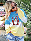cheap Christmas Sweater-Women's Pullover Sweatshirt Graphic Daily Other Prints Basic Christmas Hoodies Sweatshirts  Cotton Loose 6950 purple Blue Purple