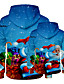 cheap Family Matching Outfits-Dad and Son Christmas Hoodie & Sweatshirt Graphic Optical Illusion Print Blue Long Sleeve Active Matching Outfits