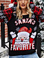 cheap Christmas Sweater-Women's Christmas Knitted Animal Pullover Acrylic Fibers Long Sleeve Sweater Cardigans Crew Neck Fall Winter Black