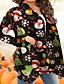 cheap Christmas Sweater-Women's V Neck Sweater Coat Regular Geometric Daily Basic Cotton Light Brown S M L XL