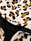 cheap Coats & Trench Coats-Women's Fall & Winter Jacket Regular Leopard Print Daily Black S M L