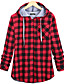 cheap Hoodies & Sweatshirts-Women's Blouse Shirt Check Long Sleeve Cowl Neck Tops Basic Top Blue Red Green
