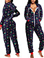 cheap JUMPSUITS & ROMPERS-Women's Zipper Front White Navy Blue Jumpsuit Geometric Print