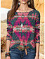 cheap Knit Tops-Women's Geometric Pullover Long Sleeve Plus Size Sweater Cardigans Crew Neck Fall Winter Blue Red Blushing Pink