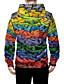 cheap Men's 3D-Men's Zip Up Hoodie Sweatshirt Graphic 3D Front Pocket Hooded Daily Weekend 3D Print 3D Print Hoodies Sweatshirts  Long Sleeve Rainbow